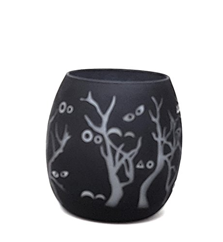 Halloween Decoration and 12 Tealights by PartyLite Bats Fall Trees ()