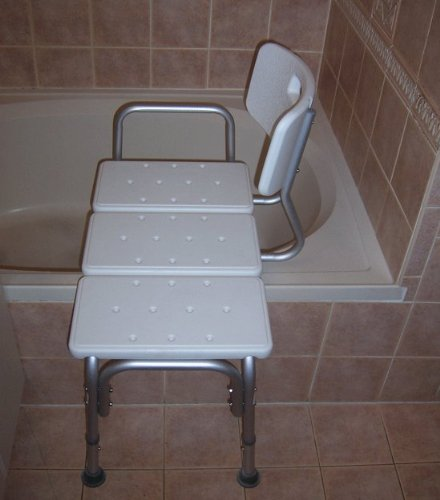 Nice ... BATH CHAIR WITH BACK, WIDE SEAT, ADJUSTABLE SEAT HEIGHT, SURE GRIPED  LEGS, LIGHTWEIGHT, DURABLE, RUST RESISTANT SHOWER BENCH: Health U0026 Personal  Care