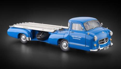 CMC-Classic Model Cars 1955 Mercedes-Benz Racing Transporter, Blue Wonder