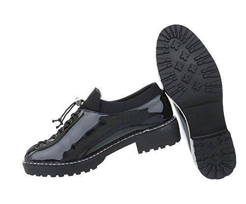 Halbschuhe Damen Damen Damen Schnürer Halbschuhe Schwarz Schuhe Schuhe Schuhe Schnürer Schwarz Halbschuhe pwOqSSx7