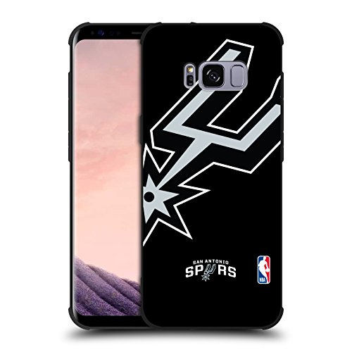 Black Nba Spur - Official NBA Oversized Icon San Antonio Spurs Shockproof Matte Black Case for Samsung Galaxy S8