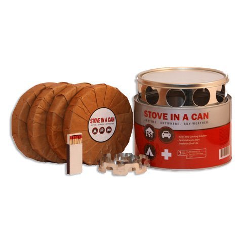 Stove In A Can - Portable Outdoor Camp / Cooking Kit - Perfect for Camping, Backpacking, Hunting, Tailgating, Emergency Survival, Food Storage (Dog Stove)