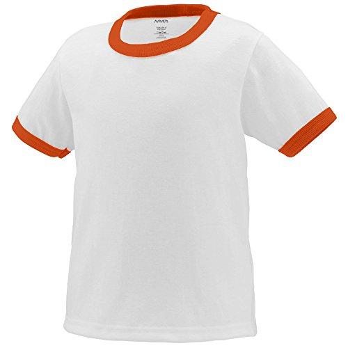 (Augusta Sportswear Toddlers' Ringer T-Shirt 4T White/Orange)