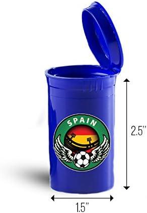 España fútbol deporte organizador contenedor estuche de viaje ID 6755b: Amazon.es: Hogar