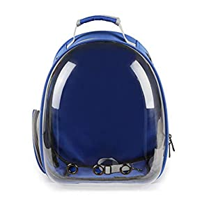MONEIL Transparent Pet Travel Backpack Carrier Bag, New Space Capsule Bubble Design 360° Sightseeing Handbag, Cat Dog… Click on image for further info.