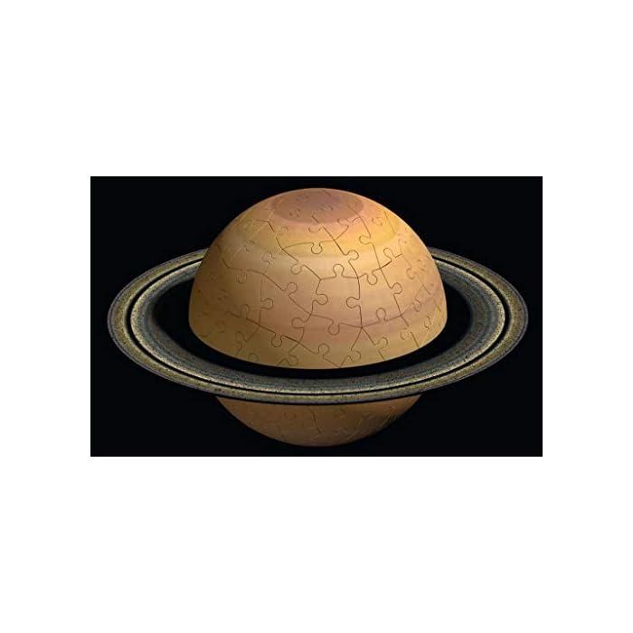 41bdrrI86hL toda la calidad ravensburger en un fantástico puzzle 3d del sistema planetario! Las puzzleballs se ensamblan perfectamente sin adhesivo, pieza por pieza! Descubre los ocho planetas de nuestro sistema planetario con el puzzle 3d de ravensburger