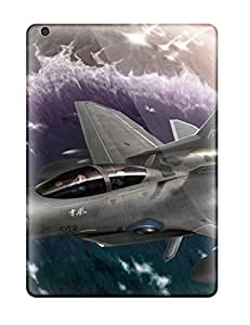 Hot Tpu Cover Case For Ipad/ Air Case Cover Skin - Gray Jet Fighter Anime Other