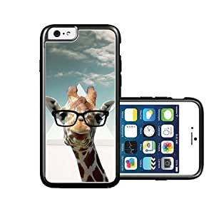 RCGrafix Brand Hipster Giraffe Geek Glass iPhone 6 Case - Fits NEW Apple iPhone 6