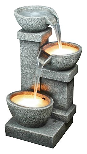 Design Toscano Villa Castle Cascading 3-Bowl Garden Fountain by Design Toscano