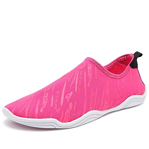 Sports Yoga and Water Rose with Holes Men Women's Swim Driving red Lake 14 for Garden Walking Drainage Beach Aqua Dry Quick Park 38 SDF02 Boating Barefoot Shoes CIOR 40YTq5wT