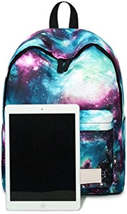 """16/"""" Blue Tie Dye Backpack School Book Bag Tote"""