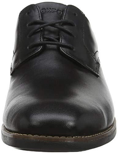 Plain Negro Para Toe Slayter Cordones Zapatos De Rockport Hombre Oxford wH5OqpWz