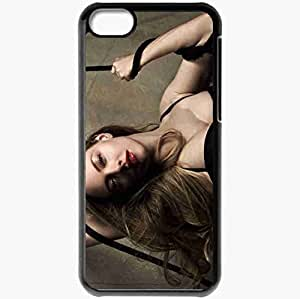 Personalized iPhone 5C Cell phone Case/Cover Skin Amanda seyfried actresses famous for being star of jennifers body and dear john and hbos big love Black by lolosakes