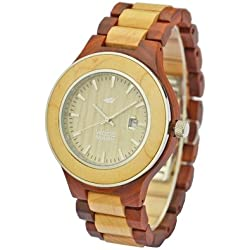 Wood Mark ZS-W1000A Mens Voyager Red Sandalwood Watch & Maple wood Watch