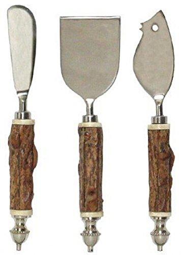 チーズツールセットW / Wood &ボーンハンドル – Fruitwood   B003B3INBQ