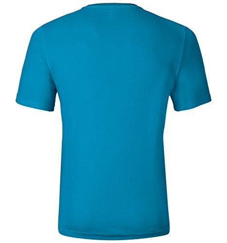 Odlo shirt Blue Placed Crew Print T Neck Jewel S George Ss17 s rYwa1qr