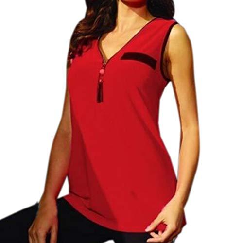 Caopixx Women Tops,Womens Deep V-Neck Blouse Tops Zipper Tight Short Sleeve Summer Tank Top Slim Fit T-Shirt