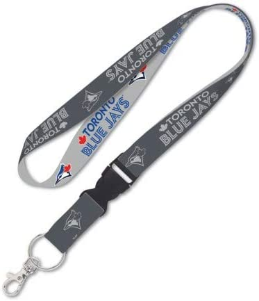 WinCraft Toronto Blue Jays Lanyard with Detachable Buckle 1 Charcoal