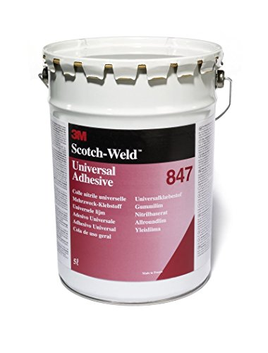 3M 847 Scotch-Grip Rubber & Gasket Adhesive, Brown 1 Gallon Can (Pack of 1) by 3M
