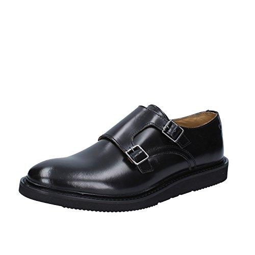 Base London - Zapatos de cordones de Piel para hombre Negro negro
