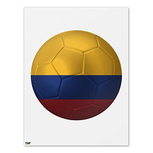 (Colombia Flag Soccer Ball Futbol Football Home Business Office Sign - Poster - 18