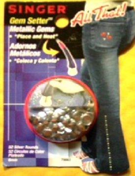 Singer Gem Setter All That! Metallic Gems - 52 Silver Rounds