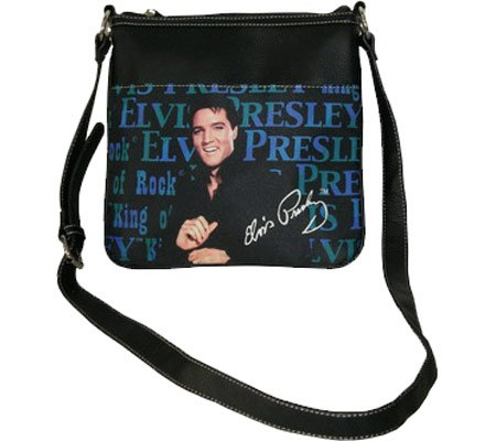 Elvis Presley Blue Cross Body Bag