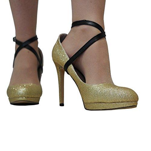 Tracolle rimovibili (1 paio) per tacchi alti, grip sul tallone, decorazione scarpa, accessori per scarpe - nero
