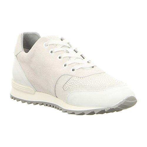 Maripé 24082-f.5159-15 - Zapatos de cordones de Piel para mujer bianco/argento