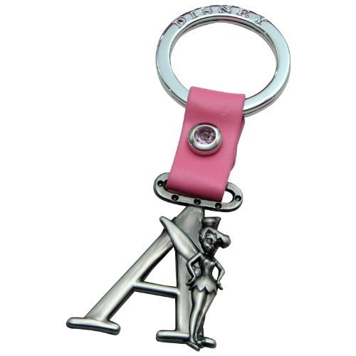 (Tinker Bell Letter A Pewter Key Chain by Disney)