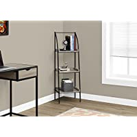 Monarch I 7228 Bookcase-48 H/Dark Taupe/Black Metal