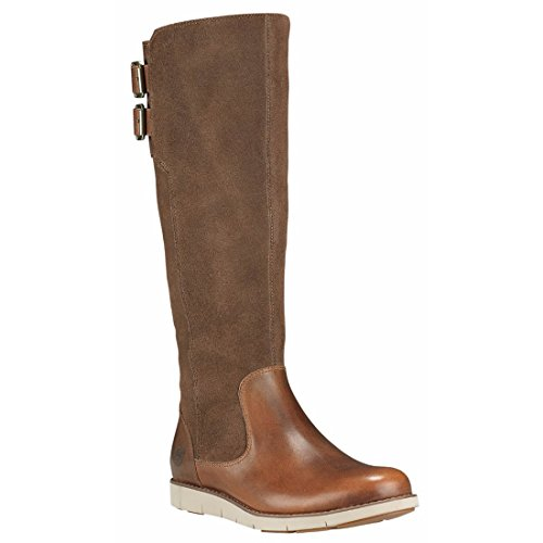 Timberland Women's Lakeville Tall Boot Medium Brown Full-Grain 8 B US (Timberland Wedge Boot)