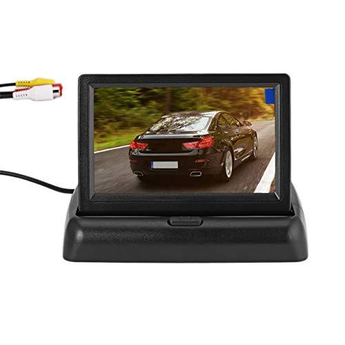 Equipo universal de asistencia para marcha atrás con pantalla de monitor plegable de 4.3'+ cámara de respaldo de alta...