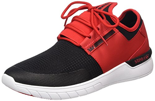Uomo Rot Red Run Supra Flow white Sneaker Black t1x7XgIqw