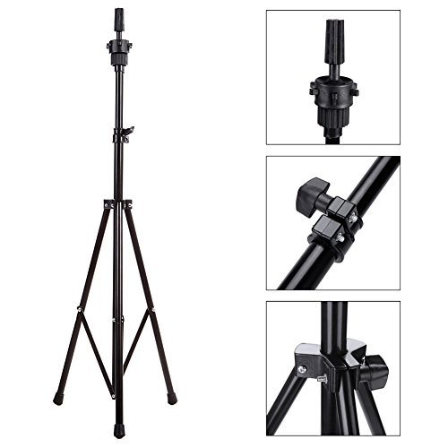 Price comparison product image Abody Wig Mannequin Head Tripod Stand with Carry Bag for Cosmetology