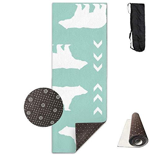 Bear Boy Mint,Yoga Mat Made to Measure,Yoga Towel Exercise Mat Non-Slip Base Fastness Waterproof Yoga Mats Fitness