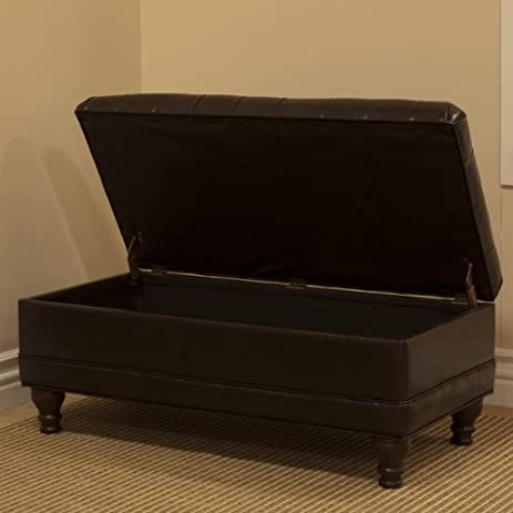 Amazon.com: Delux Tufted Bedroom Storage Ottoman: Kitchen & Dining