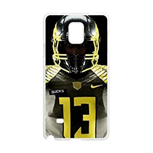 Sports oregon ducks jersey Samsung Galaxy Note 4 Cell Phone Case White 91INA91268532