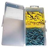 Plastic Screw Anchor Kit, 3/16 x 7/8''
