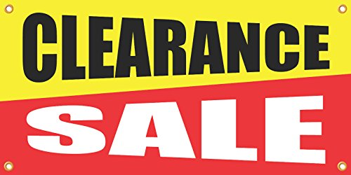 Clearance Sale Retail Banner Sign 2 H X 4 W Full Color