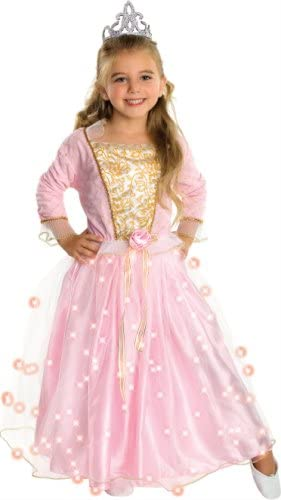 Twinkle PRINCESS Girl Costume with Fibre Optic Lights in the skirt size Sml Med