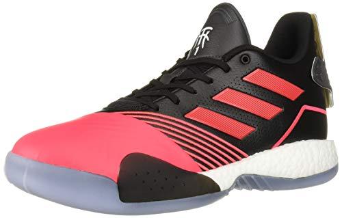 adidas Men's TMAC Millennium Basketball Shoe, Black/Shock red/Dark Grey Heather Solid Grey, 11 M US