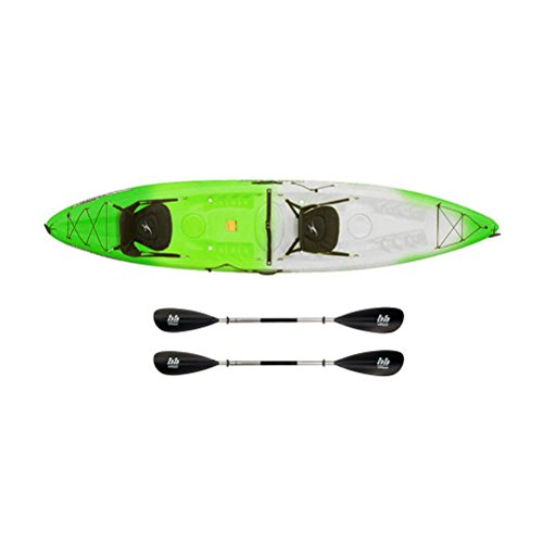 Ocean Kayak Malibu 2XL Tandem Kayak Envy Green - Sport Package - 230cm-230cm
