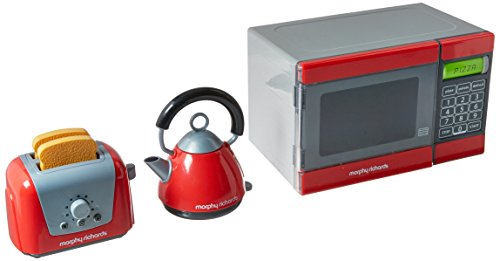 Casdon Little Cook Morphy Richards Microwave, Kettle & Toaster Toy (Microwave Toy Oven)