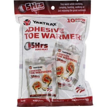 Hour Adhesive Toe Warmers - Yaktrax 5-Hour Adhesive Toe Warmer, 10 Pair