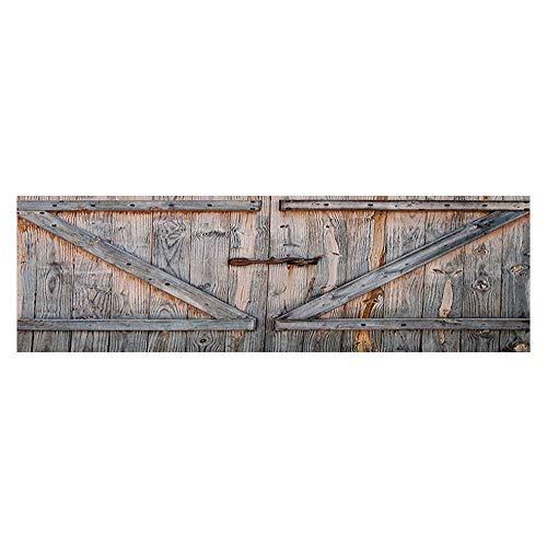 (Auraise Heybee Background Decoration Old Wooden Garage Door American Styleatis for Bathroom Vintage Fish Tank Wallpaper Sticker 23.6