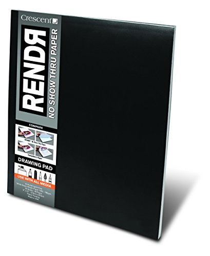 Crescent Cardboard Co RENDR No Show Thru Drawing Pad, 9-Inch by 12-Inch, 24 Sheets