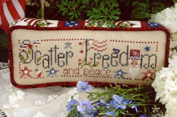 - Scatter Freedom Cross Stitch Chart and Free Embellishment