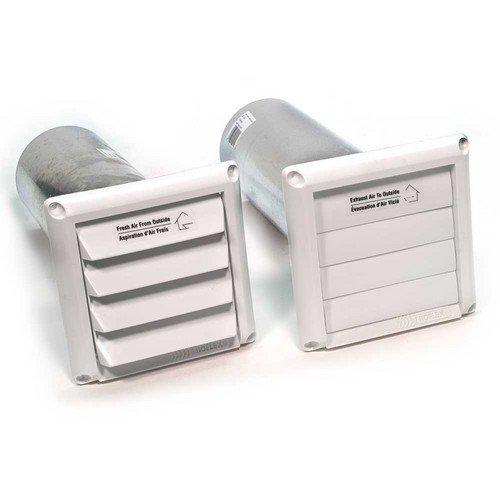 "Fantech COM 5P Plastic Supply and Exhaust Hoods (Pair), 5"", White"