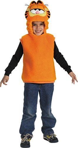 Boys Garfield Vest Kids Child Fancy Dress Party Halloween Costume, 3T-4T]()
